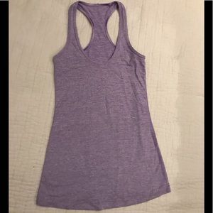 Lululemon Purple and White Striped Tank
